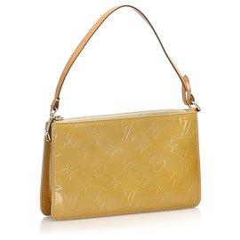 Louis Vuitton-Louis Vuitton Brown Vernis Lexington Pochette-Brown,Beige