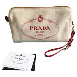 Prada-New Prada clutch-Cream