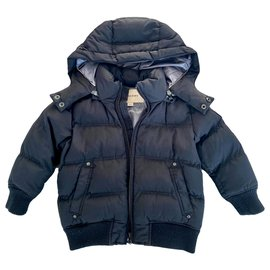 Burberry-Boy Coats Outerwear-Black