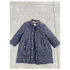 Burberry-Girl Coats outerwear-Navy blue
