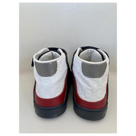 Gucci-Sneakers-White,Red,Grey,Navy blue