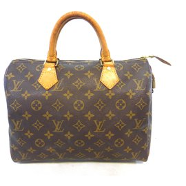 Louis Vuitton-SPEEDY 30 MONOGRAM-Marron