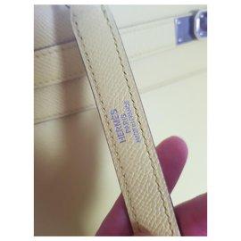 Hermès-Hermes kelly sellier epsom 32-Yellow