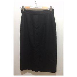 Burberry-Vintage Burberry skirt-Black