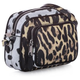 Burberry-Burberry Brown Animal Print Leather Crossbody Bag-Brown,Multiple colors