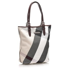 Burberry-Burberry Brown Supernova Check Tote Bag-Brown,Multiple colors,Beige