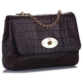 Mulberry-Mulberry Brown Lily Leather Shoulder Bag-Brown,Dark brown