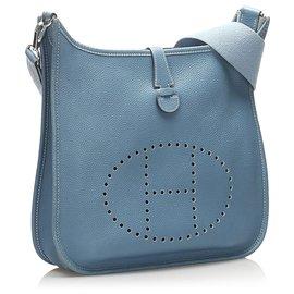 Hermès-Hermes Blue Evelyne GM-Blue