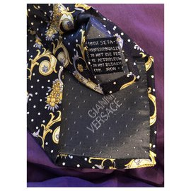 Gianni Versace-Ties-Black,Yellow,Navy blue