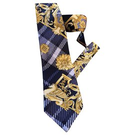 Versace-Ties-Black,Yellow,Navy blue