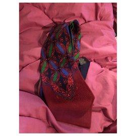 Gianni Versace-Ties-Green,Dark red,Navy blue