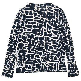 Proenza Schouler-Proenza long sleeves-Black,White,Dark blue