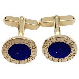 """Bulgari-Bulgari """"Gemelli BVLGARI BVLGARI"""" cufflinks, yellow gold and lapis lazuli-Other"""