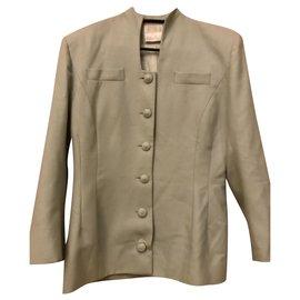 Emmanuelle Khanh-Emmanuelle Khanh green couture jacket-Light green