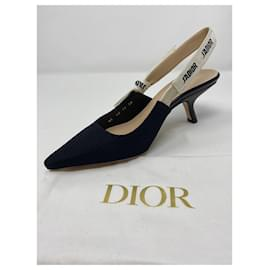 Dior-POMPE J'ADIOR SLINGBACK Tissu technique noir-Noir