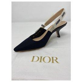 Dior-POMPE DIOR J'ADIOR SLINGBACK Tissu technique noir-Noir