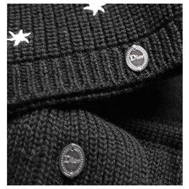 Christian Dior-Bonnet et écharpe Star-Noir