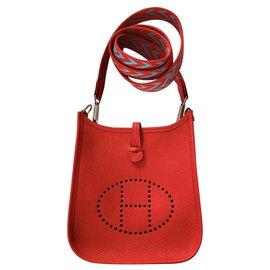 Hermès-Hermes evelyne amazone tpm mini 16.-Red