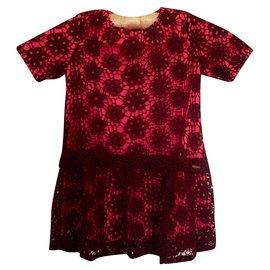 Dkny-Dresses-Pink,Dark red