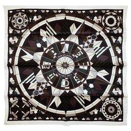 Hermès-ROSE COMPAS (Vintage silk)-Multiple colors
