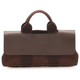 Hermès-Hermes Brown Valparaiso Long PM-Brown,Dark brown