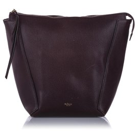Mulberry-Mulberry Red Camden Grained Leather Shoulder Bag-Red,Dark red