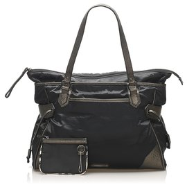 Burberry-Burberry Black Nylon Handbag-Black