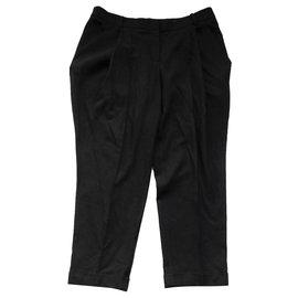 Alexander Mcqueen-PF10 Black trousers-Black