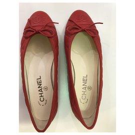 Chanel-Chanel Ballerinas-Red
