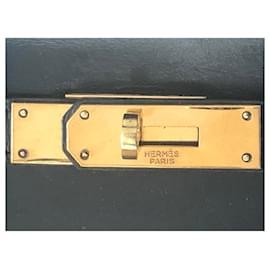 Hermès-hermes kelly 32  Vintage Navy Box Leather-Navy blue