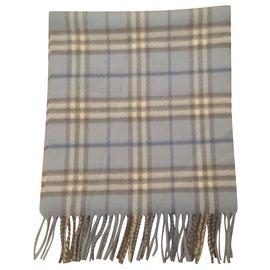 Burberry-Cashmere scarf-Light blue