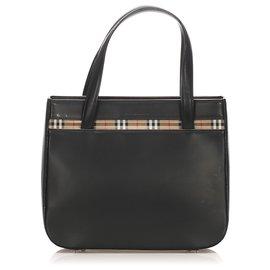 Burberry-Burberry Black Leather Handbag-Black,Multiple colors
