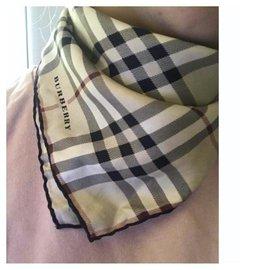 Burberry-New Burberry silk scarf-Beige