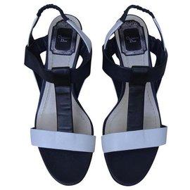 Dior-Des sandales-Blanc,Bleu Marine
