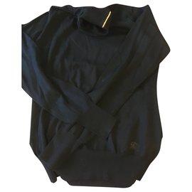 Burberry-Black turtleneck sweater-Black