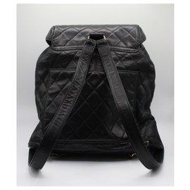 Chanel-Chanel 1991's vintage backpack-Dark blue
