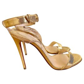 Christian Louboutin-Christian Louboutin Sandals-Golden