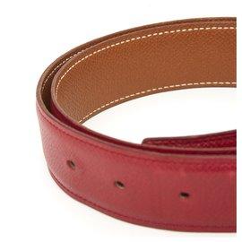 Hermès-TO COMPOSED RED CAMEL FR70/75-Red,Caramel