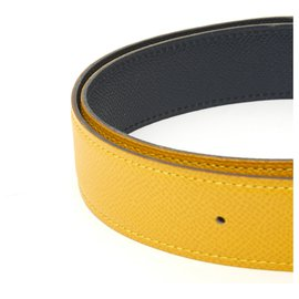 Hermès-TO BE COMPOSED YELLOW NAVY FR70/75-Yellow,Navy blue