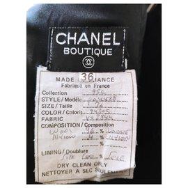Chanel-CHANEL WOOL TWEED SKIRT-Black