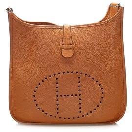 Hermès-Hermes Orange Evelyne GM-Orange
