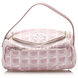 Chanel-Chanel Pink New Travel Line Nylon Crossbody Bag-Pink,White
