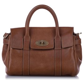 Mulberry-Mulberry Brown Bayswater Leather Satchel-Brown