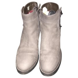 Chanel-Chanel boots-Dark grey