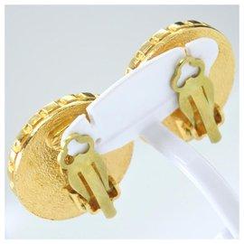 Chanel-Boucle d oreille chanel-Doré