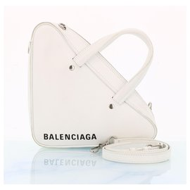 Balenciaga-Sac de voyage Triangle Balenciaga-Blanc