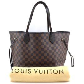 Louis Vuitton-Toile Louis Vuitton Neverfull MM Damier Ébène-Marron
