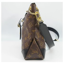Louis Vuitton-Louis Vuitton OdeonNM Womens shoulder bag M45353 noir x brown-Brown,Black