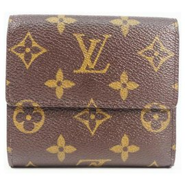 Louis Vuitton-LOUIS VUITTON Tri-fold wallet Portumone billets Cult Credit Womens Tri-fold wallet M61652-Other