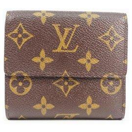 Louis Vuitton-LOUIS VUITTON Portefeuille à trois volets Portumone billets Cult Credit Portefeuille à trois volets pour femme M61652-Autre